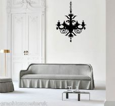 Chandalier Gloss Wall Art Sticker Decal Chic Luxury Stunning